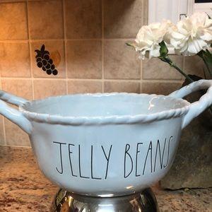 """🆕 RAE DUNN """"JELLY BEANS """"  Blue Ceramic Basket"""